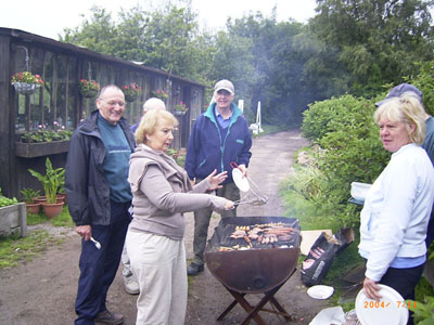 2004 barbecue at Tickhill Lane near Dilhorne