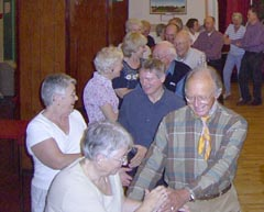 At a barn dance held at Weston Coyney Village Hall